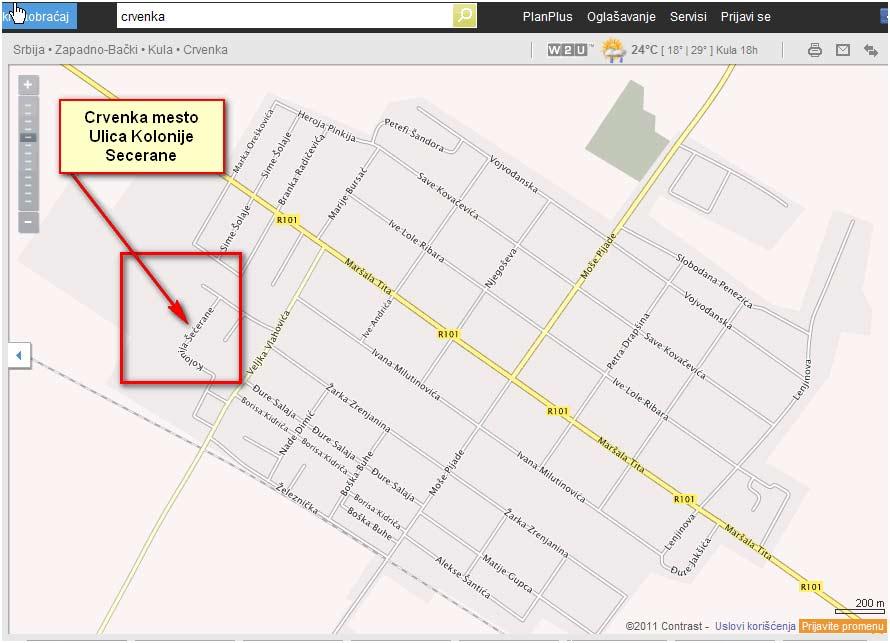 crvenka mapa Dezinsekcija Crvenka | Dezinsekcija.Akcija 790 dinara! crvenka mapa