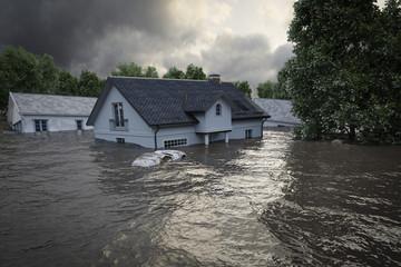 Dezinsekcija naseljenih podrucja nakon poplava.
