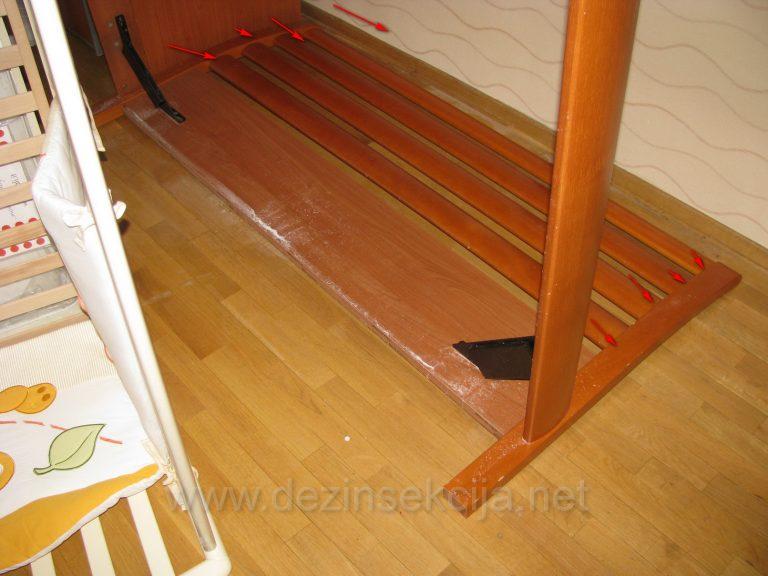 Primer pripremljenog spavaceg kreveta.