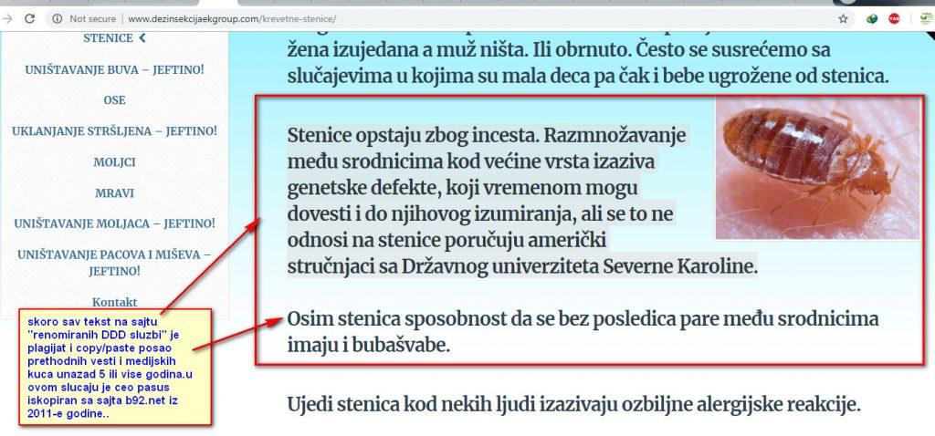 """Plagirani tekst sa portala b92.net na sajtu """"Renomirane ddd sluzbe iz Beograda"""".Tekst je 100% ukraden i nedozvoljeno koriscen sa portala b92.net koji je u originalnoj formi objavljen jos 2011-e godine."""