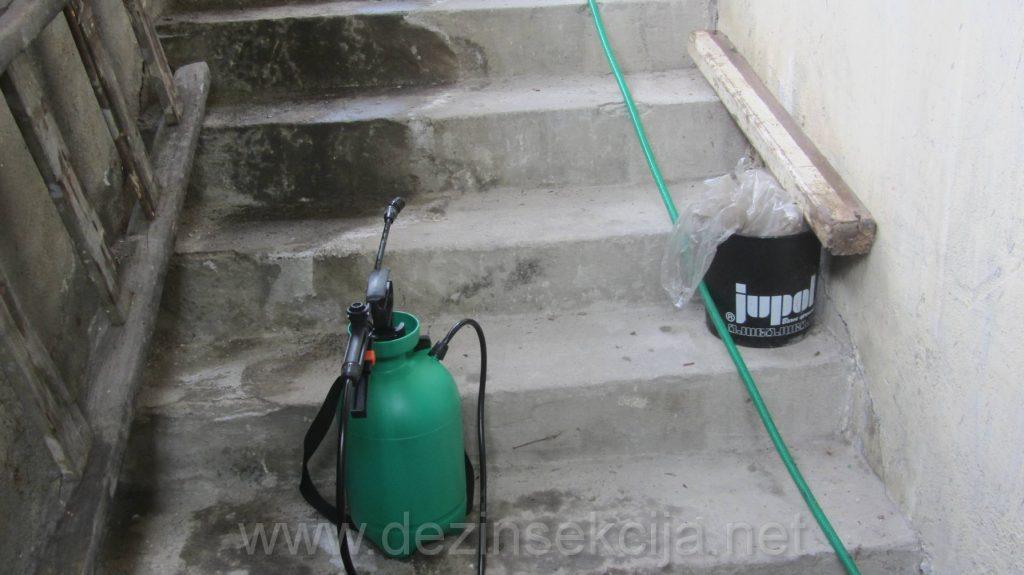 Regulacija buva na stepenistu koje su zadavale ogromne muke stanarima uspesno je zavrsena koktelom odabranih preparata i angazovanjem licenciranih DDD tehnologa i sanitarnih inzenjera.