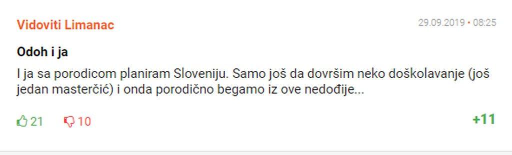Komentar stanovnika Novoga Sada i to centralnog dela Novoga Sada bogatog Novosadskog naselja Liman dovoljno govori o tome o zelji za odlaskom iz Srbije nije samo na jugu drzave vec i na severu u Vojvodini.
