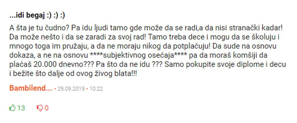 Komentar i zapazanje jednog sugradjana iz Vojvodine o katastrofalnom stanju ponude poslova u Srbij i ujedno je i sazetak buducnosti svake mlade i obrazovane osobe u Srbiji sa posteno stecenim znanjem.