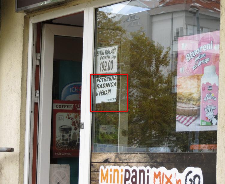 Oglasi za prodavacice u pekarama ostaju sa upraznjenim radnim mestima mesecima.