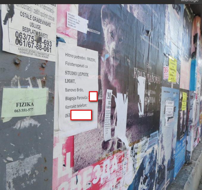Potraznja za radnicima u Beogradu,Beogradska opstina Cukarica,oglas za kozmeticara i frizera stoji mesecima.