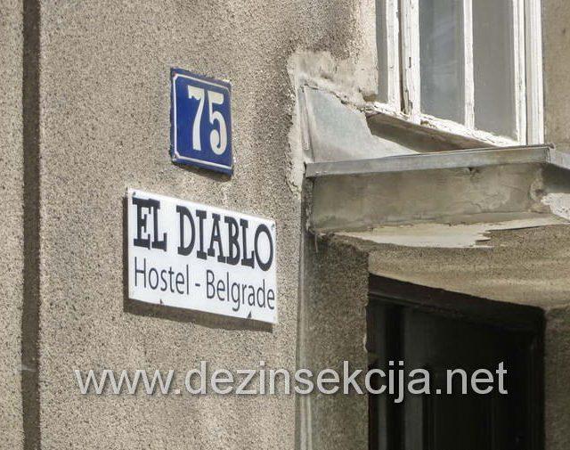 Održavanje hostela i hotela u prometnih ugostiteljskim objektima u centru Beograda na pojavu krevetnih stenica,buva,bubašvaba,bubarusa i mrava se nedovoljno ozbiljno shvata od strane vlasnika i zakupaca lokala.Nakon bezuspešnih dolaska i tretmana bez učinka više amaterskih službi pre nas jer se Klijenti u 99% slučajeva odluče za firme SA NAJNIŽOM CENOM a nakon toga dolazi otrežnjenje i cinjenica da ništa nije uradjeno,vlasnik nas je pozvao da sprovedemo mere kompletne zaštite objekta od podmuklih krevetnih stenica,buva u kanalizacionih bubašvaba.Nakon dva dolaska i primenom TL metode od strane naših edukovanih DDD tehnologa i biologa nakon detaljnih konsultacija i sanitarnog pregleda,radni objekat Klijenata je uspešno očišćen od svih vrsta insekata i glodara.Zahvaljujemo vlasniku i upravnom odboru hostela na ukazanom poverenju.Datum uspostavljanja poslovno tehničke saradnje oktobar 2018 do dana današnjeg.