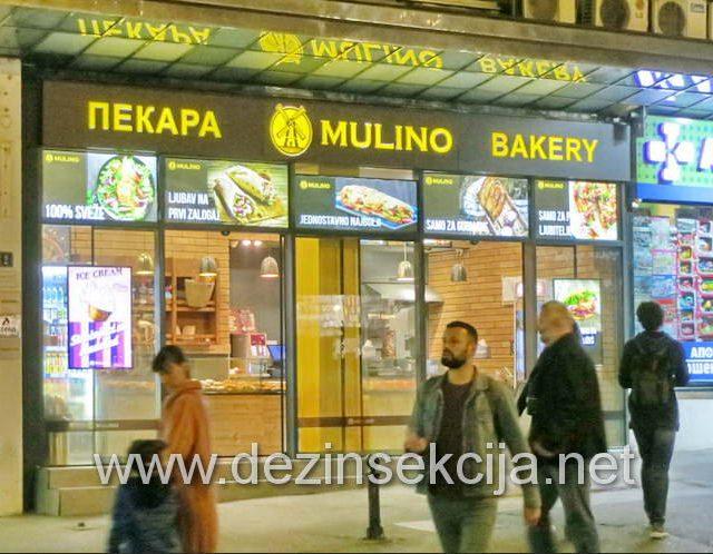 Preventivna profilaktička dezinsekcija,deratizacija i dezinfekcija lokala,picerija,pekara i restorana u turističkom i elitnom delu grada Beograd,ulica Sremska i Knez Mihajlova.Klijent korisnik usluga servisa Dezinsekcija.net lanac Pekara MULINO.Zahvaljujemo upravnom odboru MULINO Bakeries na ukazanom poverenju.Datum uspostavljanja poslovno-tehničke saradnje septembar 2019 e godine.