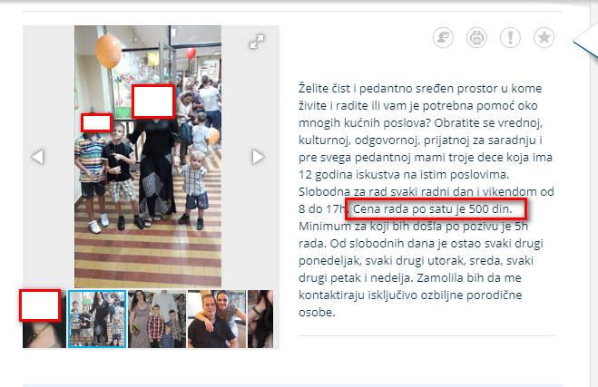 """Po predlogu nase komercijale namerno smo postavili jedan od retkih oglasa za ciscenjem stanova u Beogradu i Novom Sadu koji ilustruju sve tezu situaciju u pronalazenju kvalitetnih profesionalaca na odrzavanju higijene stanova,kuca i lokala.Cak i kada se pronadje kandidat odnosno kandidatkinja on/ona je prebukirana poslovima drugih plateznih Klijenata u narednih 30 dana.Vreme jeftinih cistaca i cistacica ubrzano prolazi a njihovo mesto upraznjavaju osobe koje su sve samo ne cistacice.Na ilustraciji gore oglas profesionalne cistacice iz Beograda.Vecina oglasa je takva kada ih pozovete da su svi jednostavno prebukirani poslom u narednih 30 do 60 dana cak i za dnevnicu od 4 ili 5 hiljada dinara.Klijenti i korisnici usluga dezinsekcije,deratizacije i ciscenja i dalje zive u iluziji da se kvalitetan radnik nalazi pozivanjem dva telefonska broja preko oglasa.Dobijate """"cistace"""" ali u vecini slucajeve sarlatane i ljude jako teske za saradnju u cestim slucajevima i kleptomane.Korisnicima DDD usluga i ciscenja u Beogradu i Novom Sadu to nije jasno i nikada im ne moze biti jasno.Za to vreme jedna porodica iz Beograda na uslugama sezonskog generalnog ciscenja stanova u Austriji i Nemackoj za nepunih 30 dana zaradi izmedju 3 i 4 hiljada eura plate.Za isti taj novac u Beogradu se ocekuje rad od 6 ili 10 meseci."""
