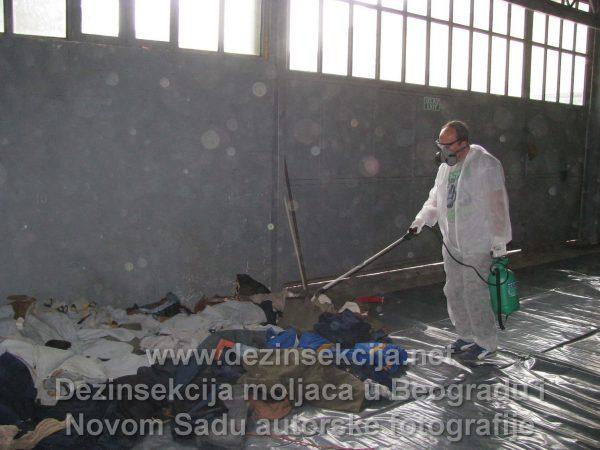 Uništavanje moljaca u Beogradu Klijent Avala Film.