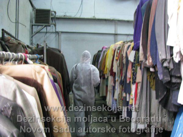 Moljci u Beogradu dezinsekcija kostima Klijent Avala Film faza 2 izvršenje.