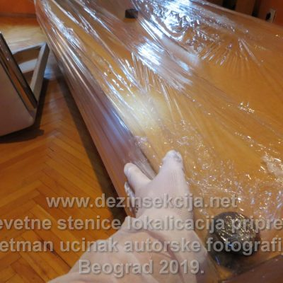 Kontrola kvaliteta rada u krevetu sa stenicama.Autorska fotografija nakon rolovanja i vakumiranja kreveta.Klijent na Novom Beogradu 2018 e godine.