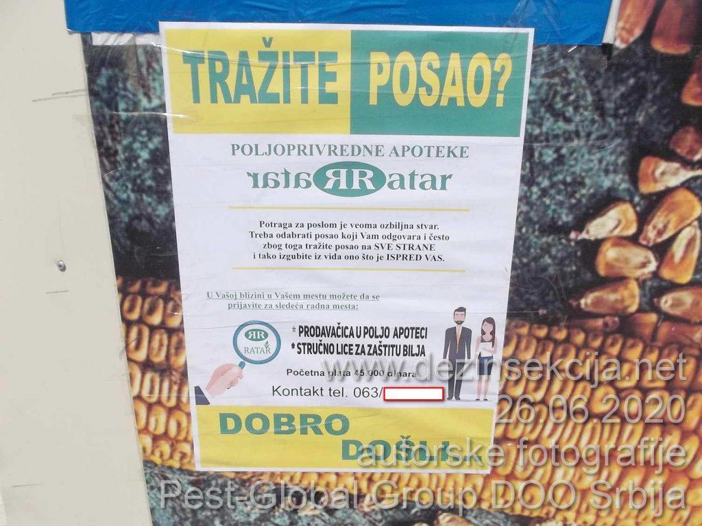 Potražnja za diplomiranim agronomima i inženjerima za zaštitu bilja sa ponuđenom platom od svega 45 hiljada dinara a na 20 metara od oglasa OBIČAN KIOSK SA PONUĐENOM PLATOM OD 50 hiljada za običnog prodavca bez ikakve diplome.Ko će ostati u Srbiji od edukovanih radnika i majstora?
