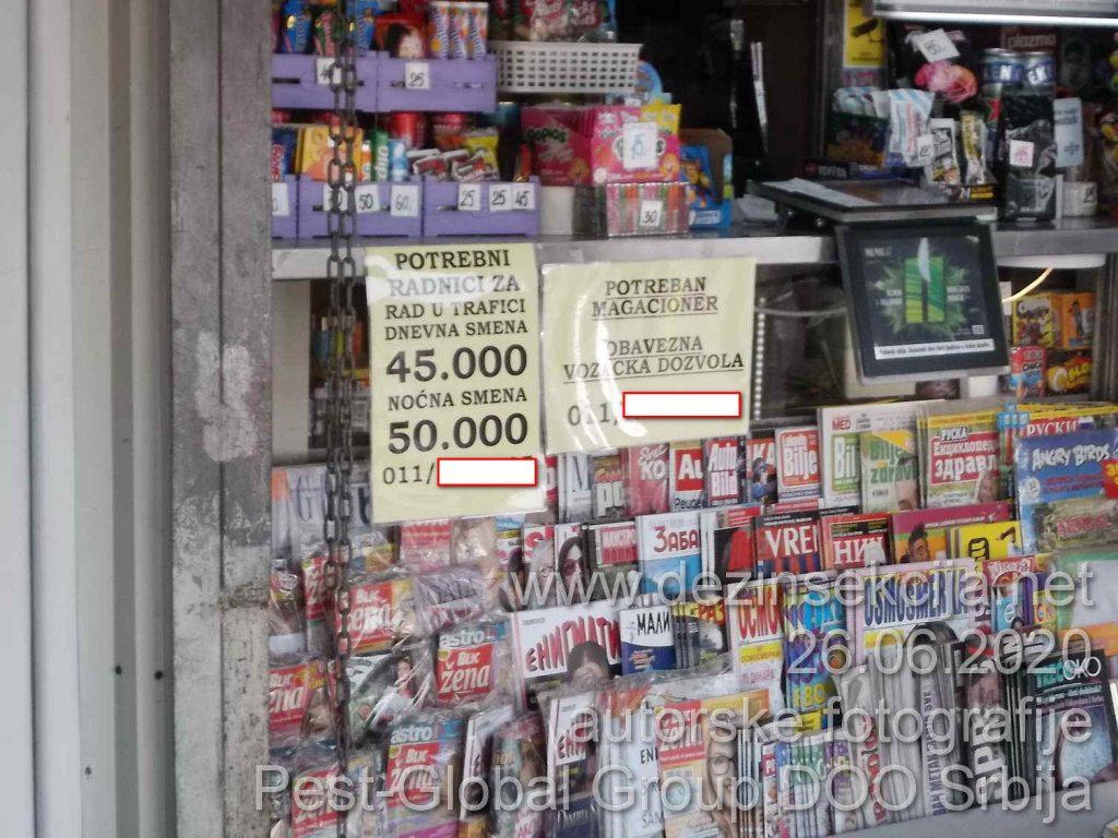 Dokle je stiglo tržište radne snage u Srbiji.Oglasi za obične prodavce na kiosku 2 m2 sa platom od 50+ hiljada dinara.Zainteresovanih nema ili je vrlo mali broj koji primi prvu platu i ne vraća se više na radnom mestu.