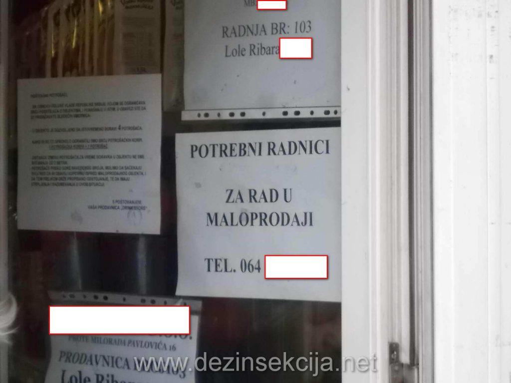 Oglasi za prodavce i plata za prodavce u običnim trgovinskim radnjama je neretko i 60 hiljada dinara-500 eura.Ni za taj novac kvalitetnog radnika je jako teško naći.I ako pristane da radi radi do prve plate i da otkaz.